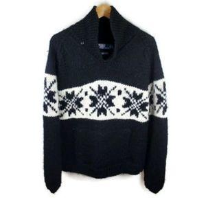 VTG Polo Ralph Lauren Hand Knit Wool Ski Sweater